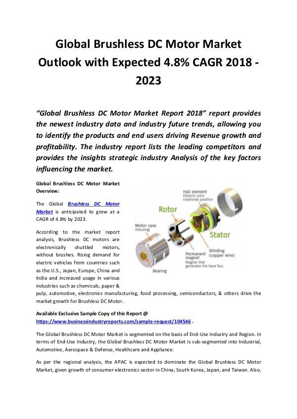 Brushless DC Motor Market 2018 - 2023