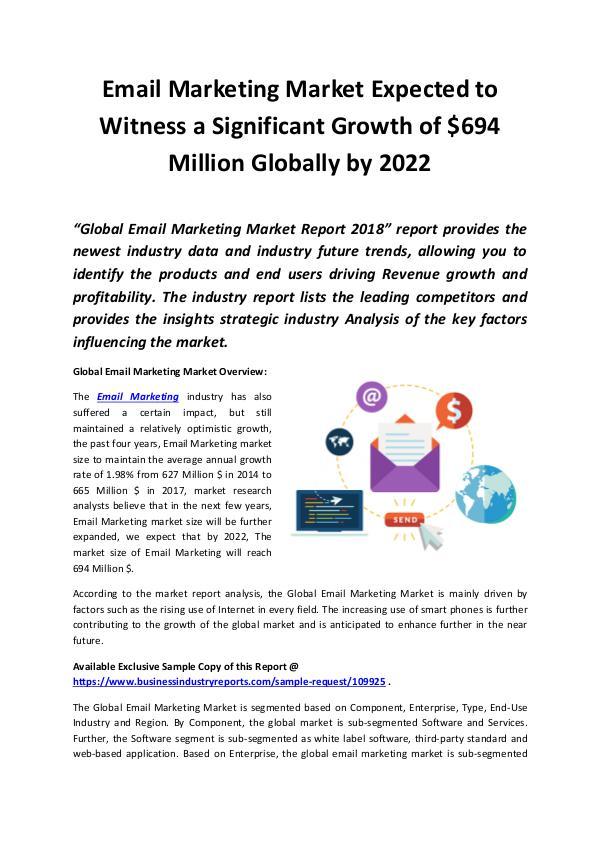 Email Marketing Market 2018 - 2022