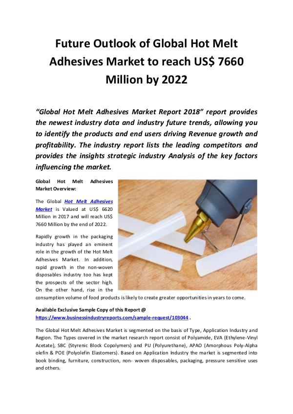 Hot Melt Adhesives Market 2018 - 2022
