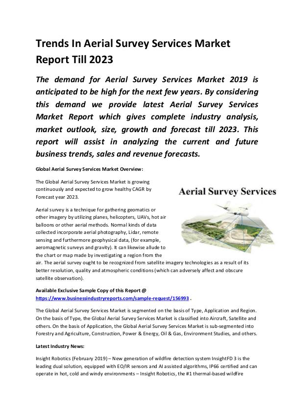 Global Aerial Survey Services Market Report 2019