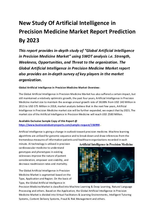 Global Artificial Intelligence in Precision Medici