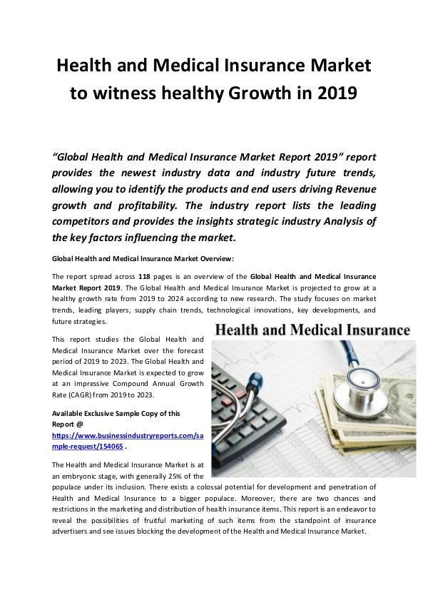 Global Health and Medical Insurance Market Revenue