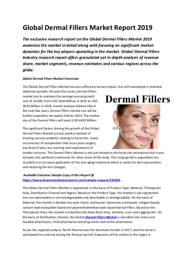Global Dermal Fillers Market Report 2019-converted