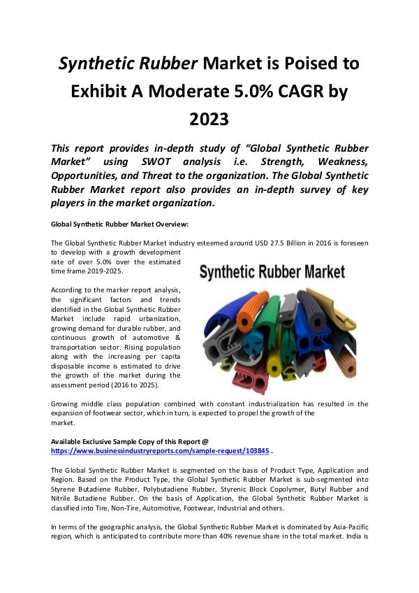 Global Synthetic Rubber Market 2019