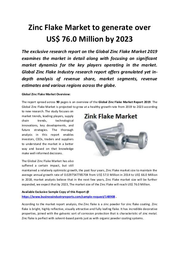 Global Zinc Flake Market 2019