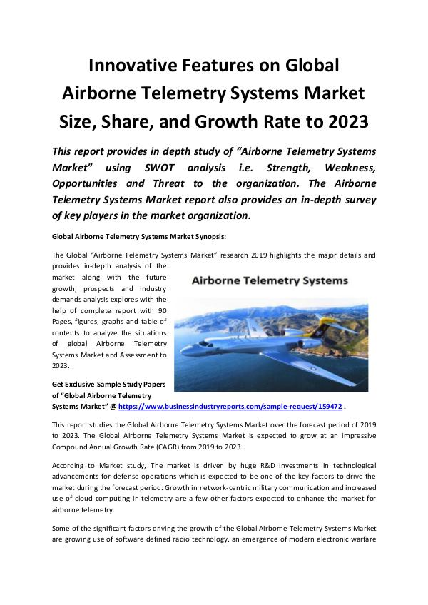 Global Airborne Telemetry Systems Market 2019