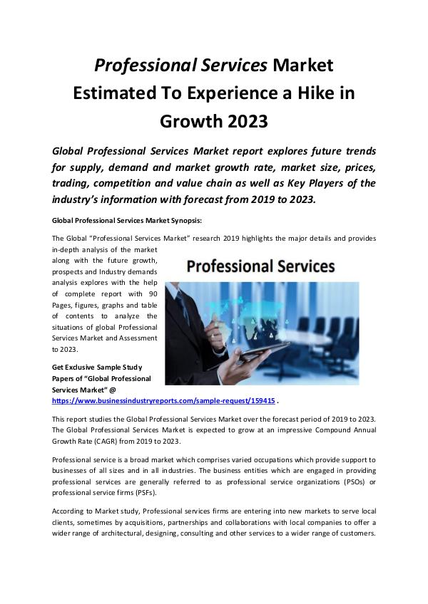 Global Professional Services Market 2019