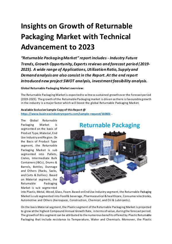Global Returnable Packaging Market Report 2019