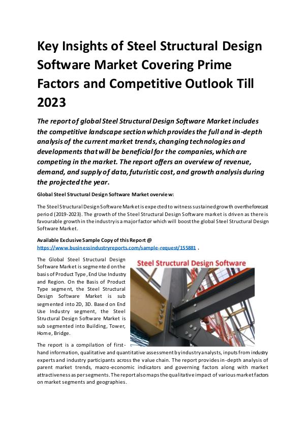 Global Steel Structural Design Software Market Rep
