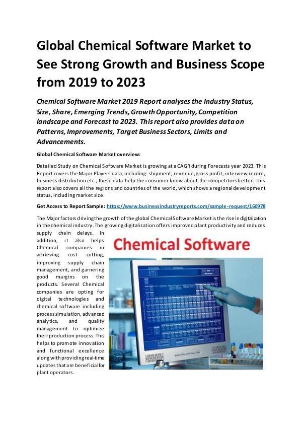 Global Chemical Software Market Report 2019