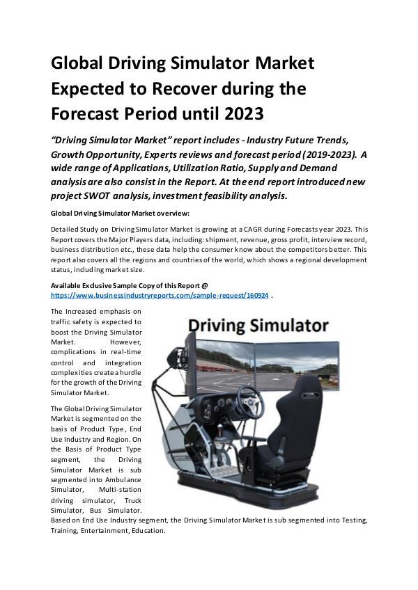 Global Automotive Driving Simulator Market Report