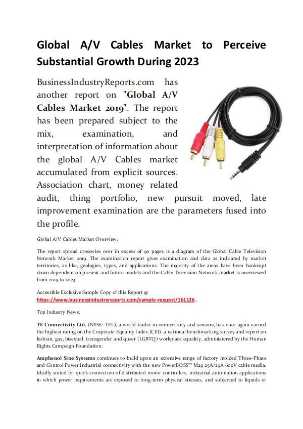 AV Cables Market 2019