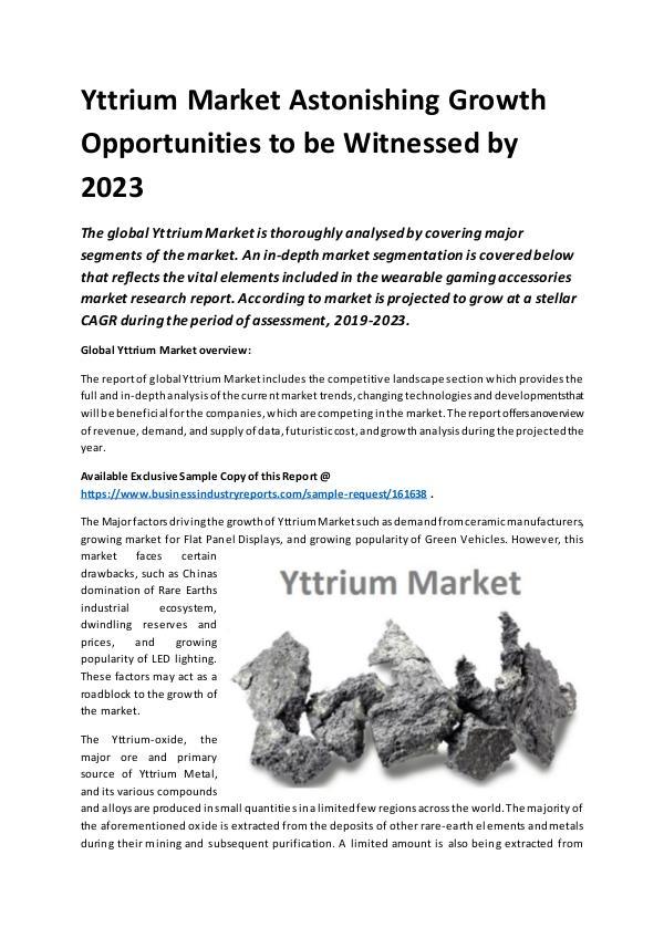 Global Yttrium Market Report 2019