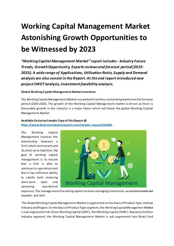 Global Working Capital Management Market Report 20