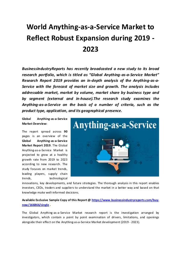 Market Research Reports Global Anything-as-a-Service Market Report 2019