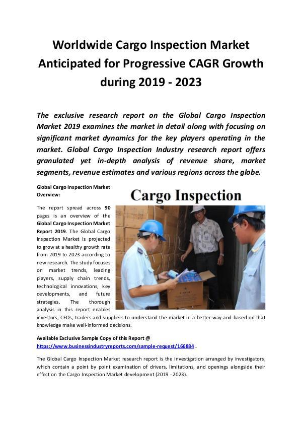 Global Cargo Inspection Market Report 2019