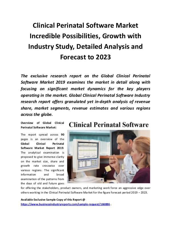 Global Clinical Perinatal Software Market Report 2