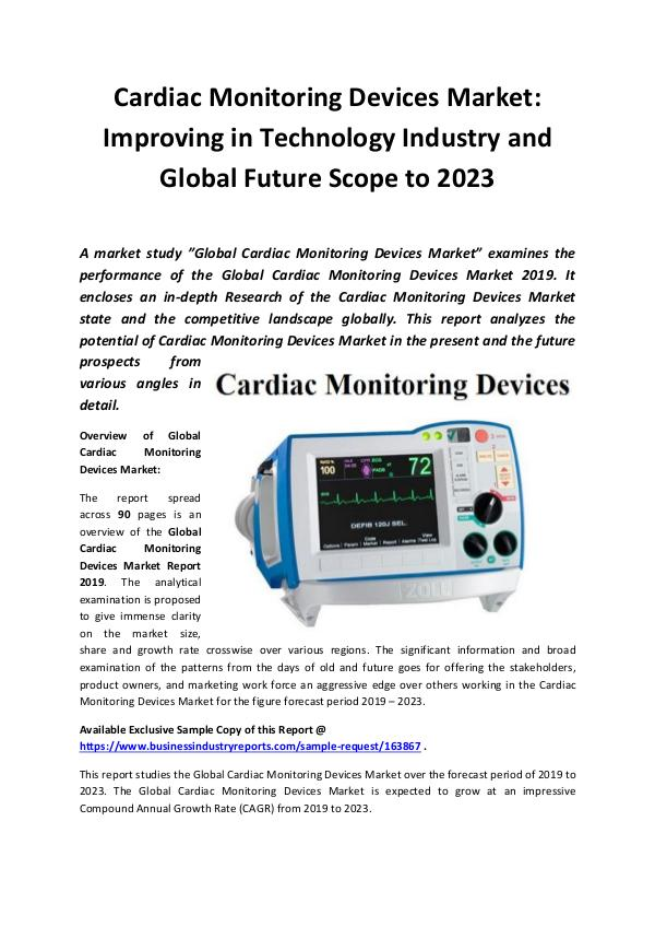 Global Cardiac Monitoring Devices Market Report 20
