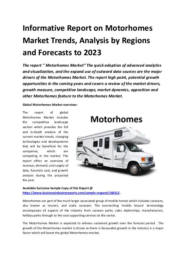 Global Motorhomes Market Report 2019