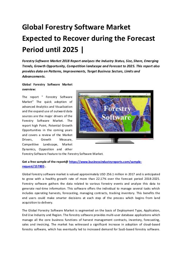 Global Forestry Software Market Size study 2018-20
