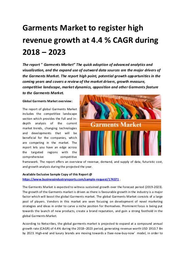 Global Garments Market 2018-2023.docx