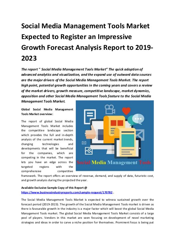 Global Social Media Management Tools Market Report