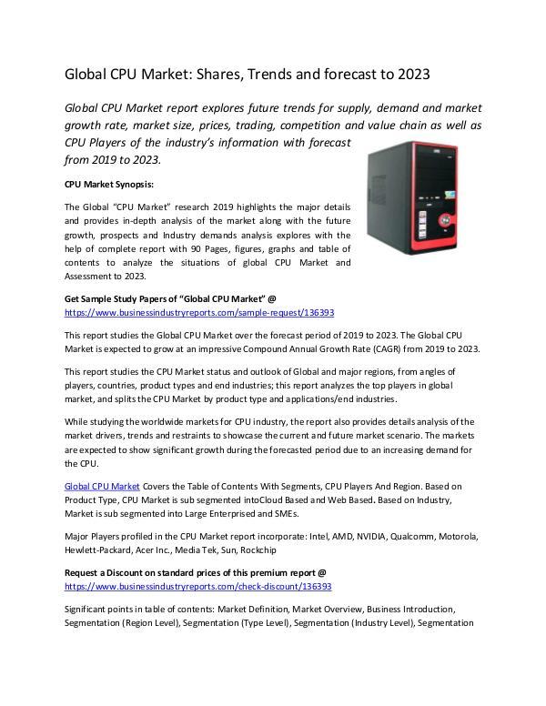 Global CPU Market