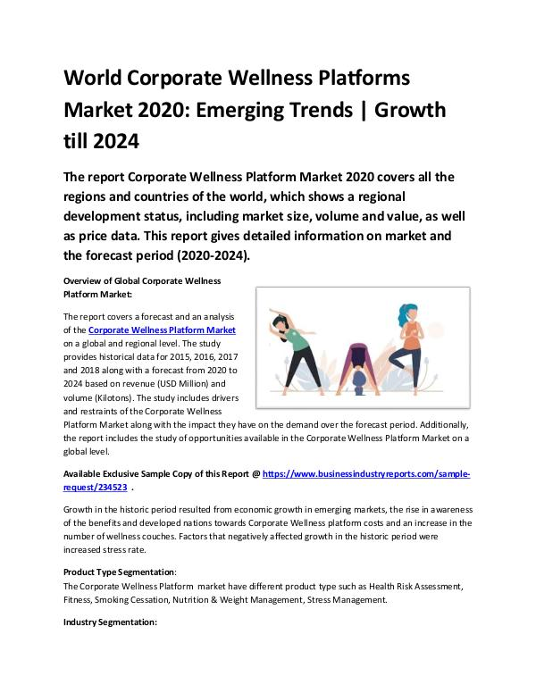 Global Corporate Wellness Platforms Market 2020-20