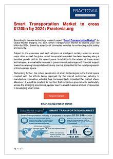 Global Smart Transportation Market to cross $130bn by 2024