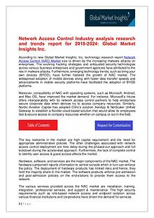 Network Access Control Market trends research for 2018-2024