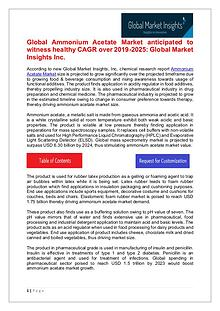 Ammonium Acetate Market 2019 Regional Growth Drivers