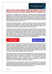 Persulfates Market anticipated to witness significant growth by 2025