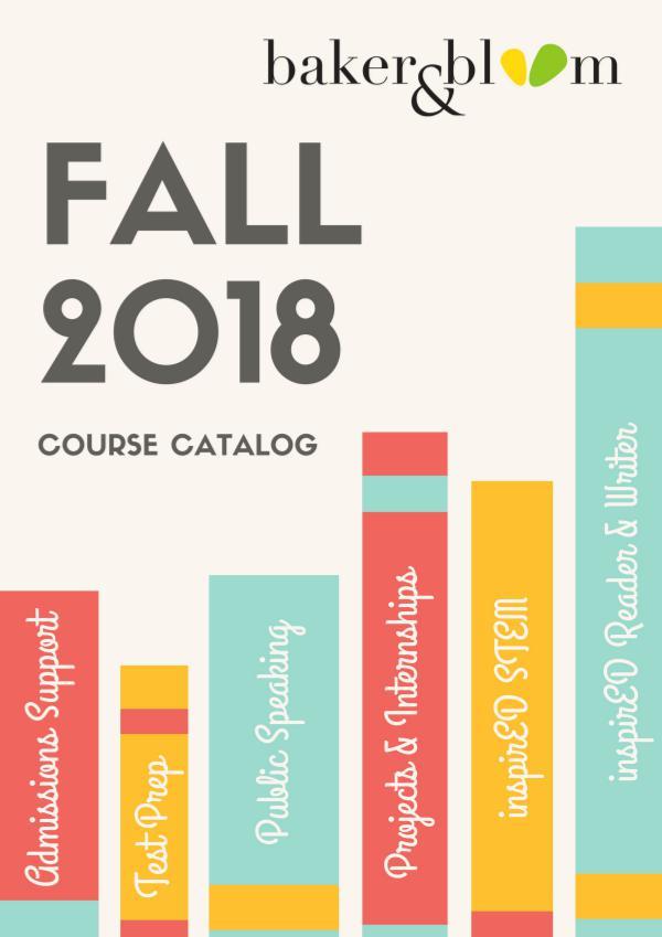 Fall 2018 Catalog Fall Catalog 2018 Web Version