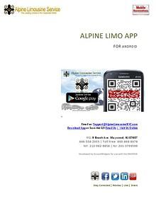 ALPINE LIMO APP
