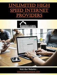 Unlimited High Speed Internet Providers | 8554858733 | connectnsave.c