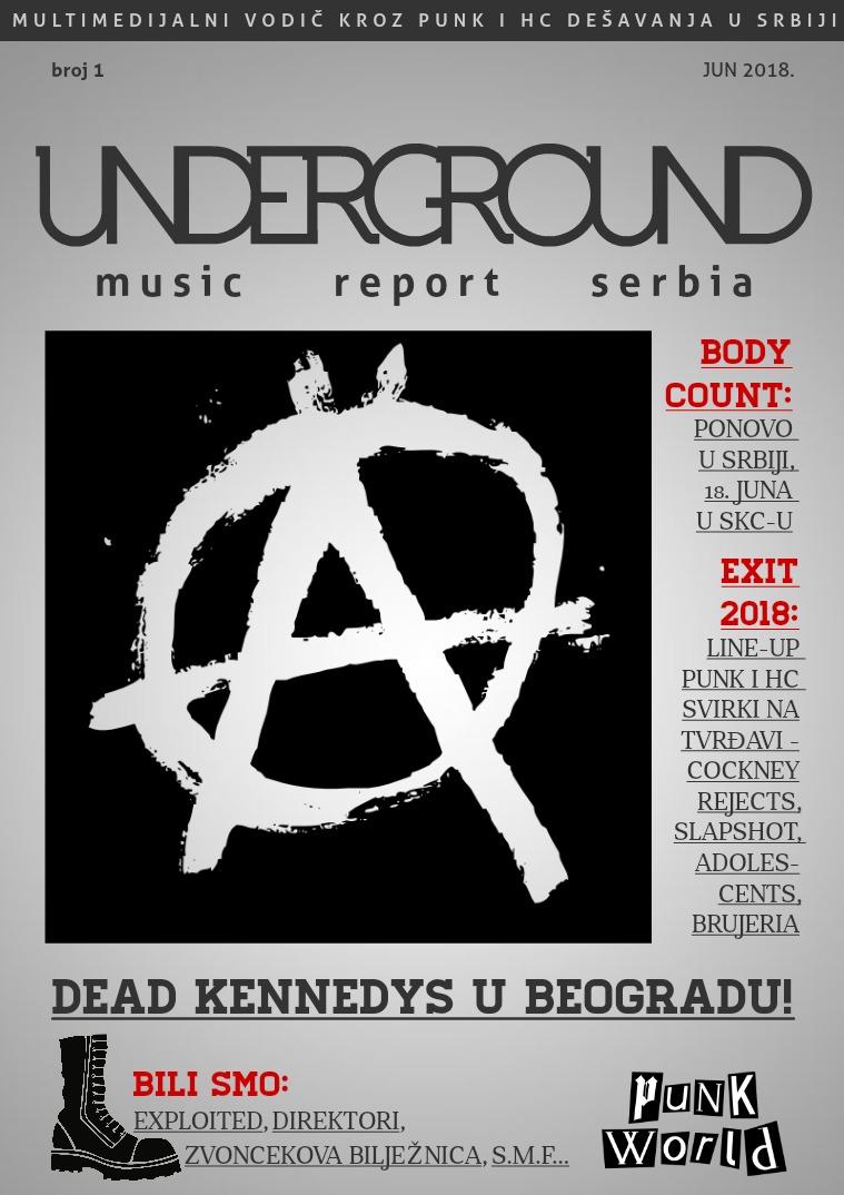 Underground Music Report Serbia: Punk i HC jun 2018