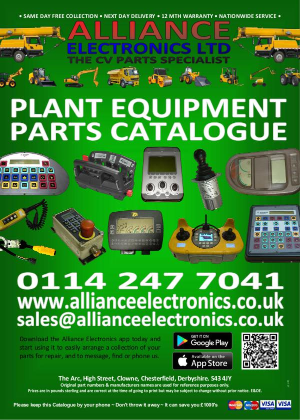 Alliance Electronics Ltd Plant Equipment Parts Catalogue 2016 Alliance Electronics Ltd Plant Equipment Parts Cat