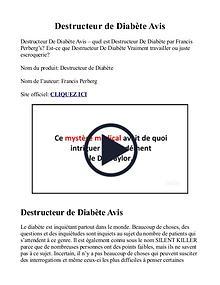 Destructeur De Diabète De Type 2 PDF Gratuit, Livre
