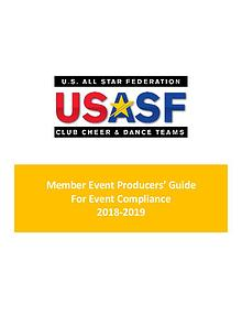 Member Event Producer Guide For Event Compliance 2018-2019
