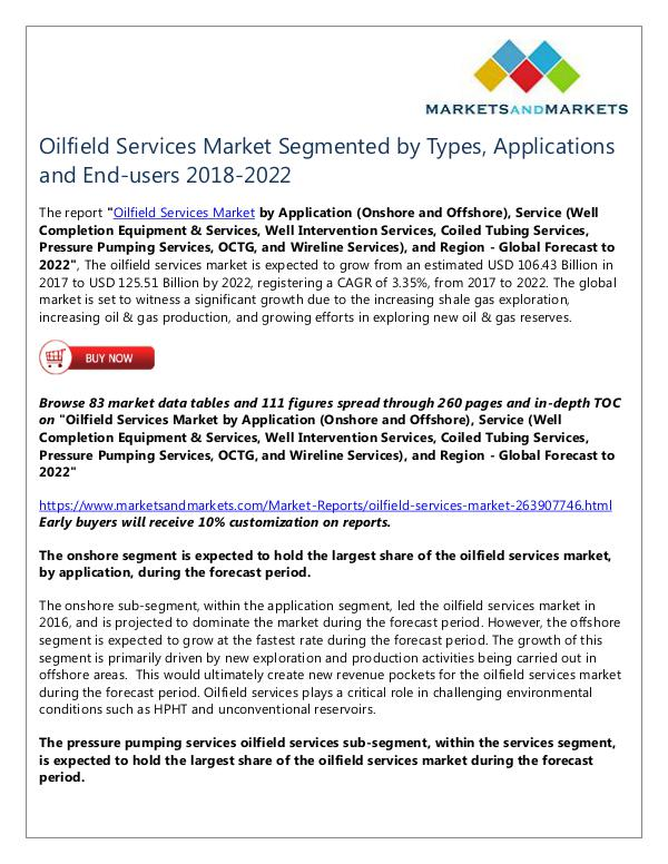 Energy and Power Oilfield Services Market