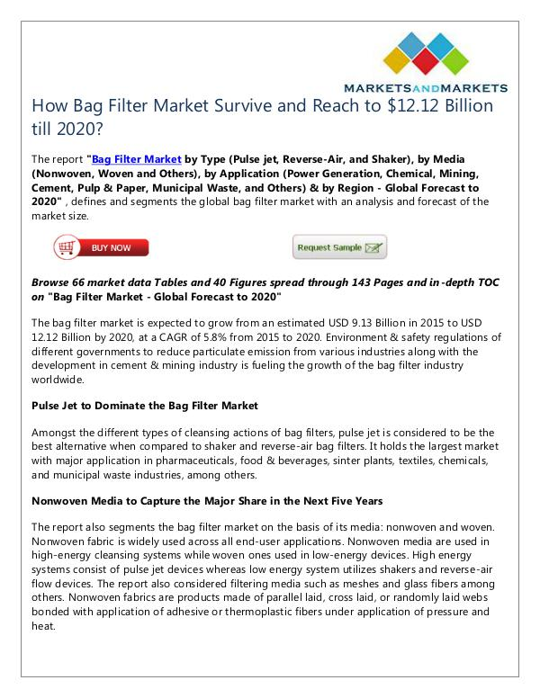 Energy and Power Bag Filter Market