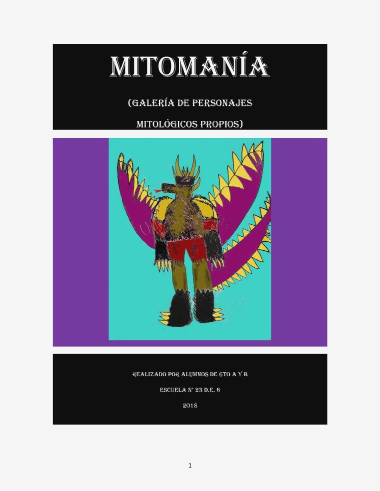 Personajes Mitológicos - Esc. 23 DE 6 - 6to 2018 GALERÍA DE PERSONAJES MITOLÓGICOS PROPIOS