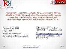 Air Traffic Control Industry to Grow at 12.75% CAGR to 2022