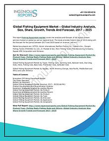Fishing Equipment Market  Study: Market Trends, Forecast, Size Analy