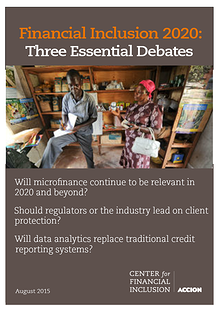 Financial Inclusion 2020: Essential Debates