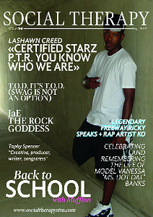Social Therapy Magazine Sept Feature Artist Lashawn Creed