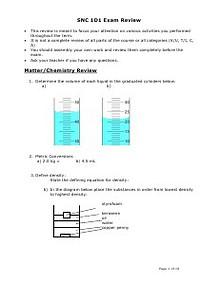 Grade 9 Science Exam Review