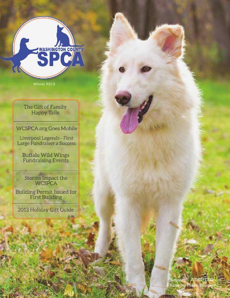 Washington County SPCA Newsletter WINTER 2013